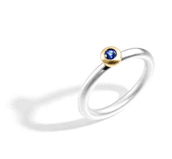 2048 Blue Sapphire Halo Ring