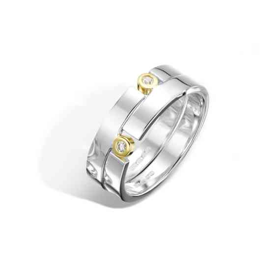 Double Puzzle Ring Polished