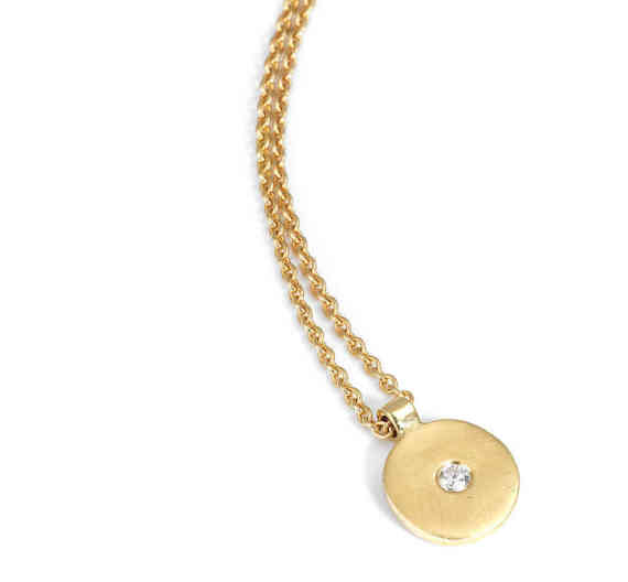 Diamond Gold Disc Pendant02