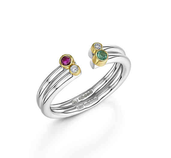 Lacuna Gemstone Stacking Rings