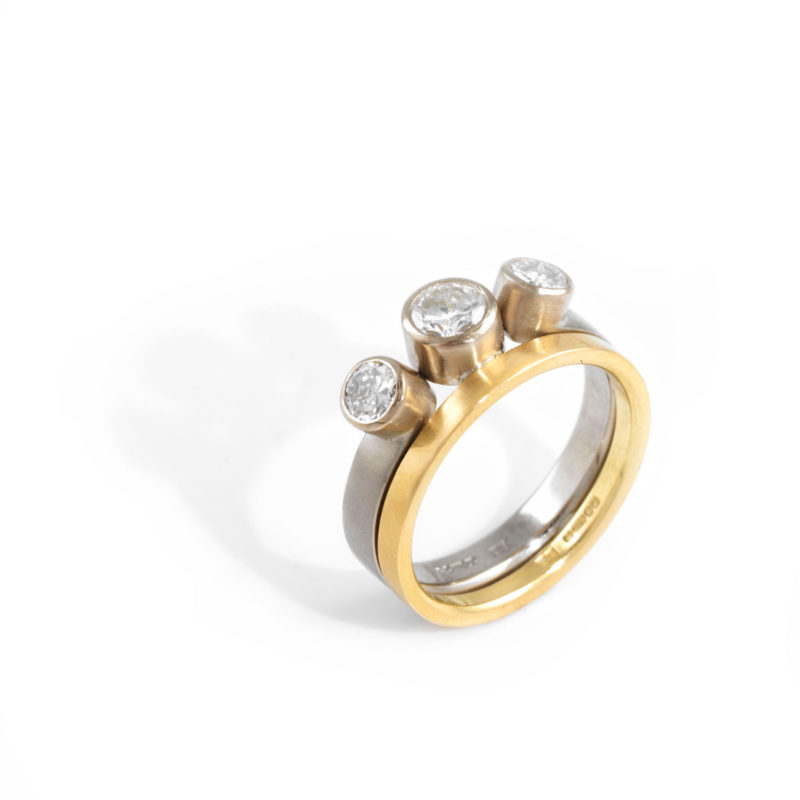 Two Tone Inset Ring