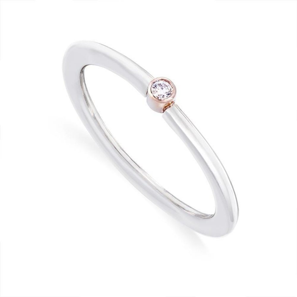 Diamond Stacking Ring White Gold