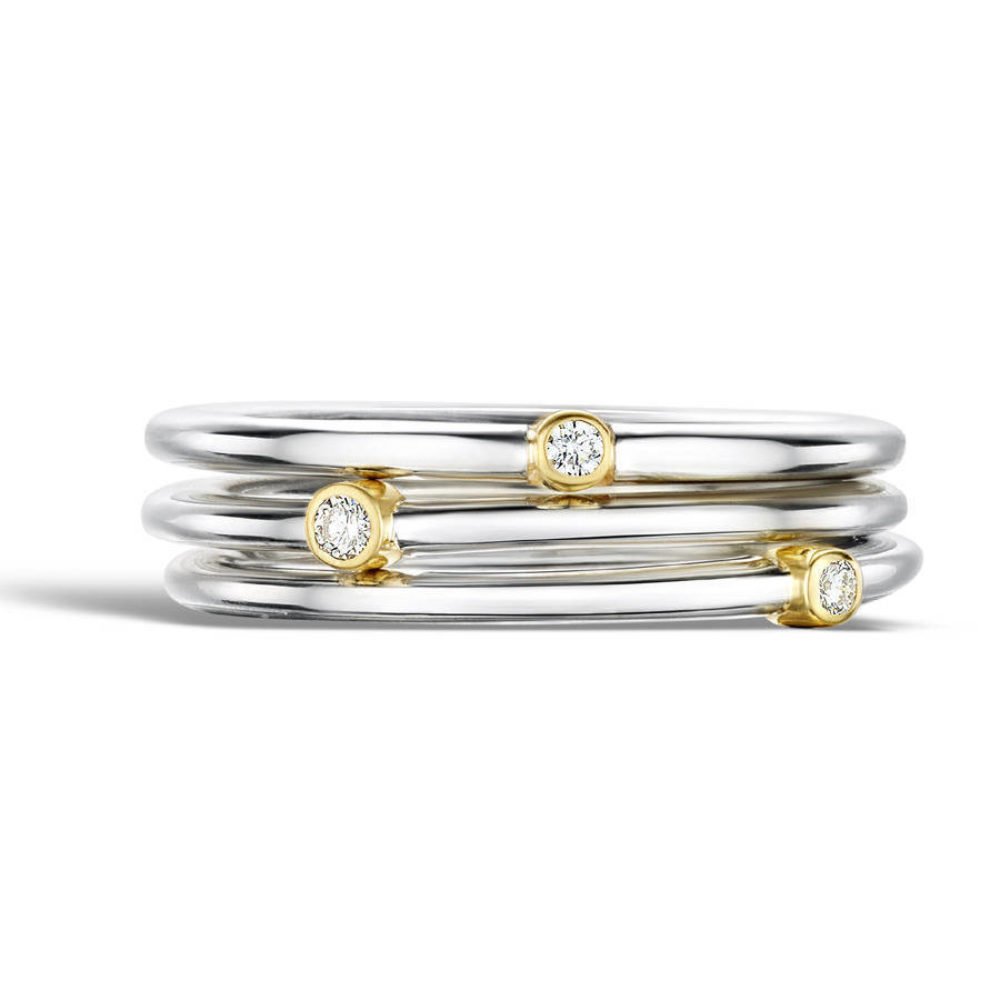 Diamond Stacking Rings Multiple