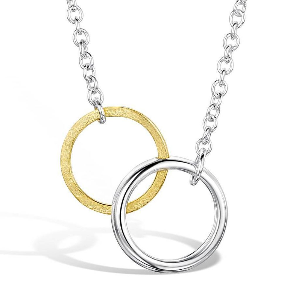 Interlocking Twin Circle Pendant Close