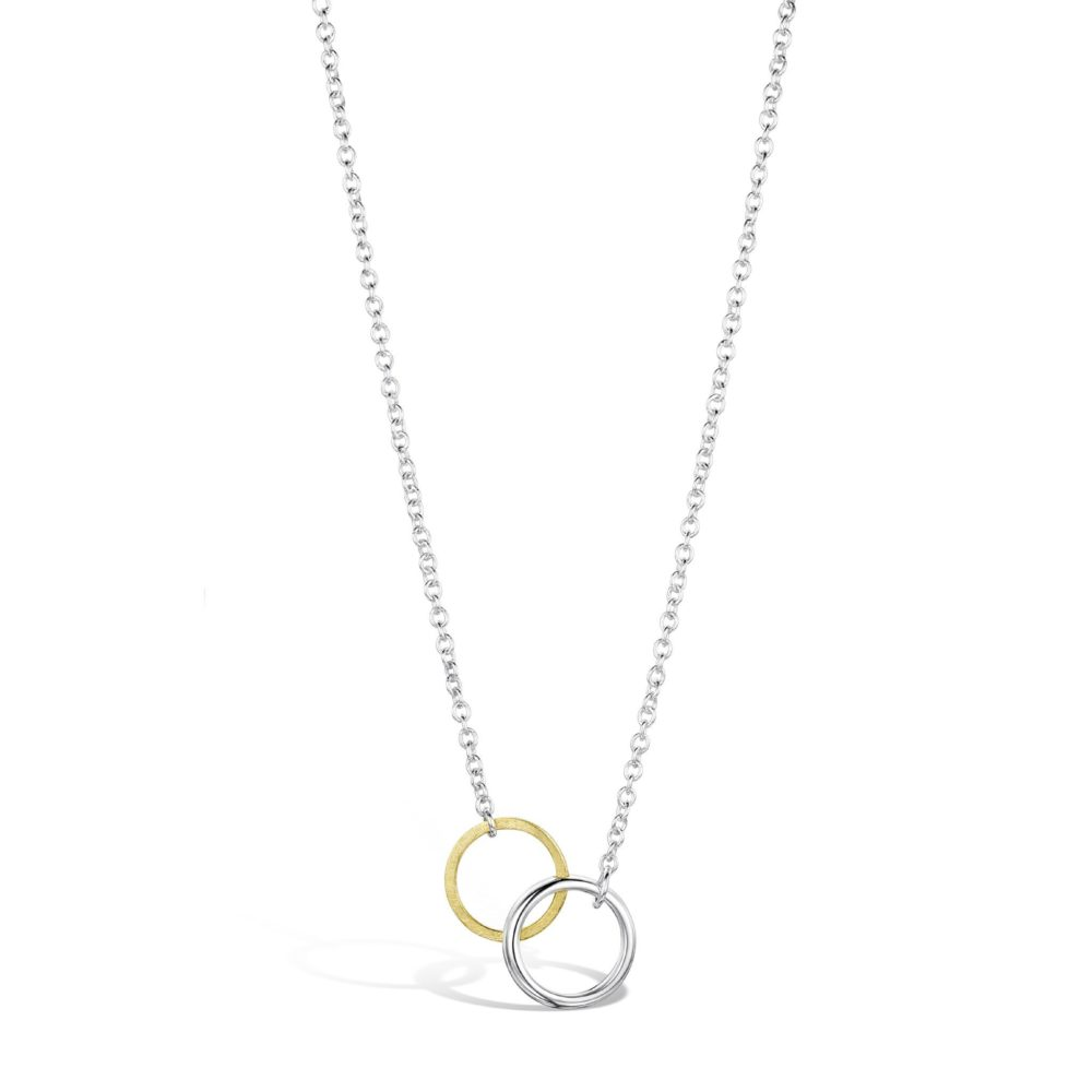 Interlocking Twin Circle Pendant