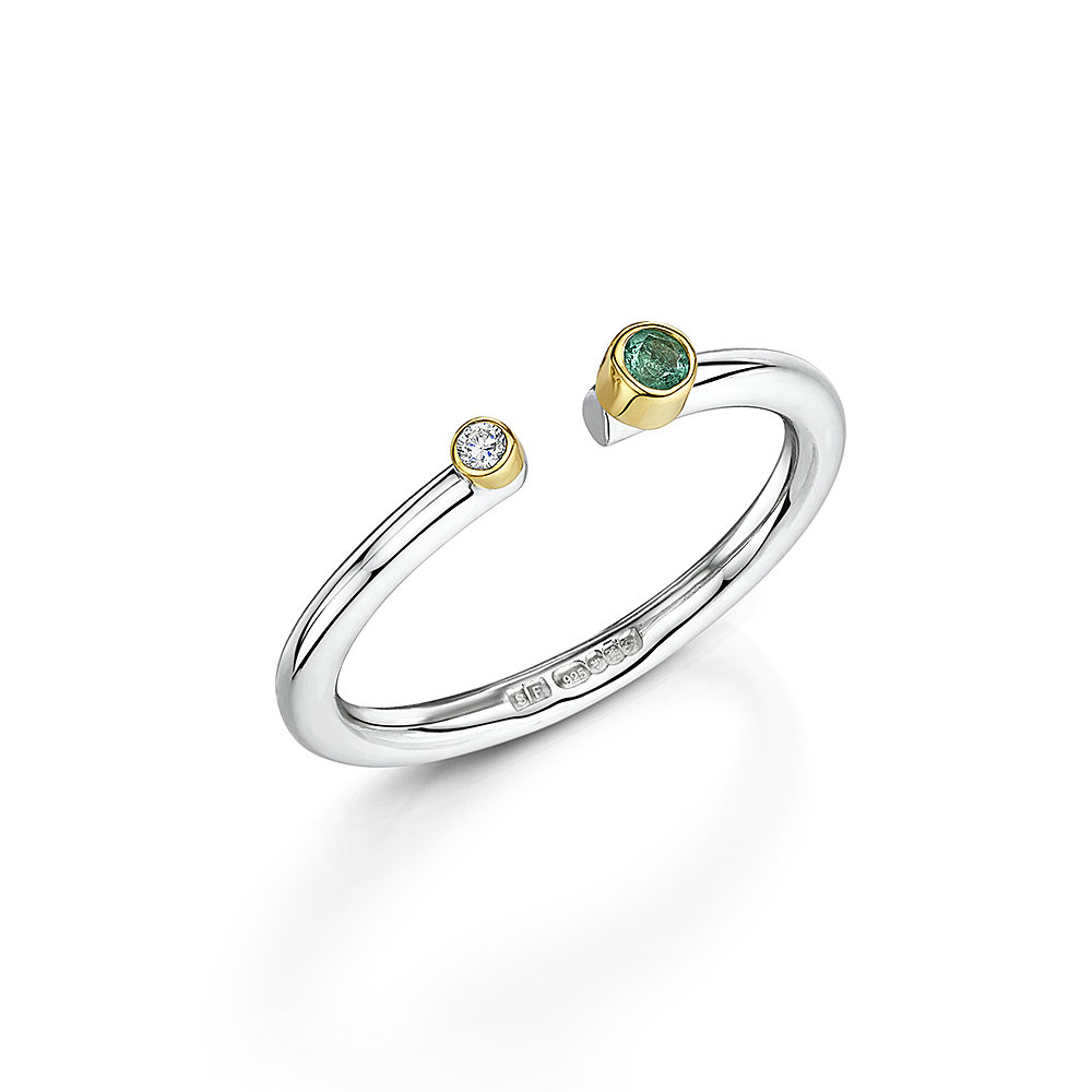 Lacuna Gemstone Stacking Ring
