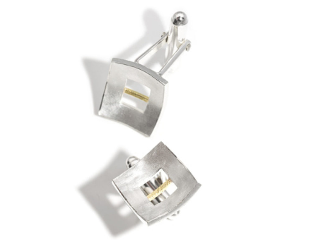 Linear Cufflinks Yellow Gold