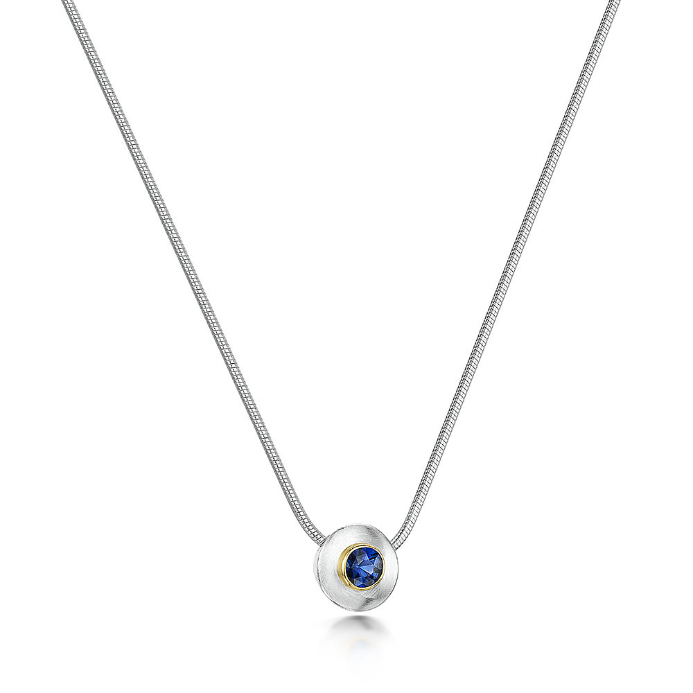 Sapphire Collet Necklace