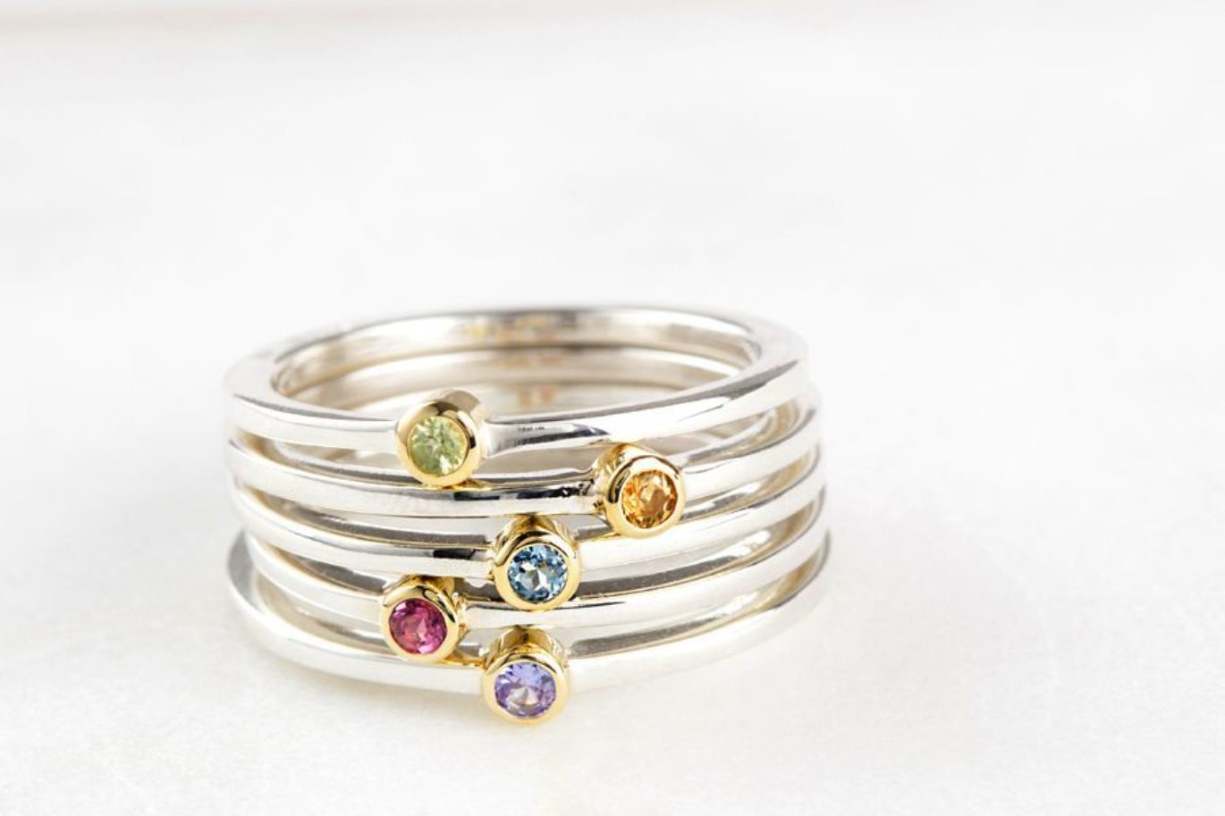 The rise and rise of Stacking Rings - I first made a series of stacking rings as a commission back in 2010 - since then they have became very fashionable.